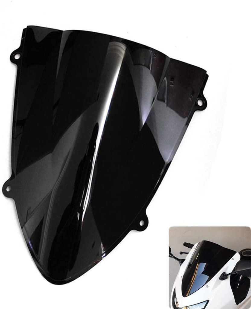 Windshield WindScreen Double Bubble For Kawasaki Ninja 250 250R EX250 2008-2012 (Black)