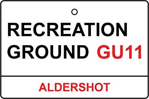 Aldershot/Recreation Ground Street Sign Car Air Freshener