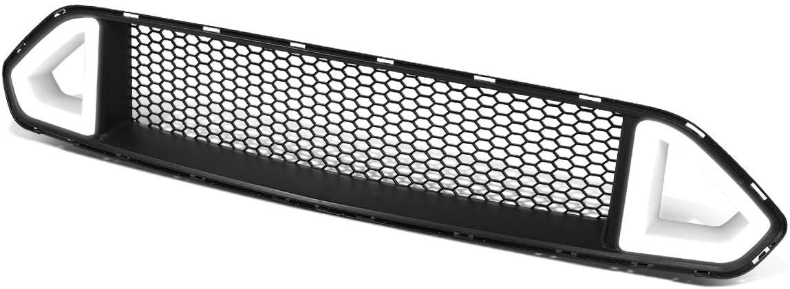 Honeycomb Mesh Triangle LED Light Bar Front Upper Bumper Grille Replacement for Ford Mustang 18-20