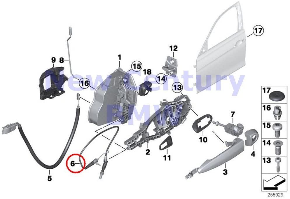 2 X BMW Genuine Locking System Door Front Outside Door Handle Front Bowd.Cable 320i 320iX 328d 328dX 328i 328iX 335i 335iX Hybrid 3 320i 320iX 328d 328dX 328i 328iX 330e 340i 340iX 328dX 328i 328iX 32