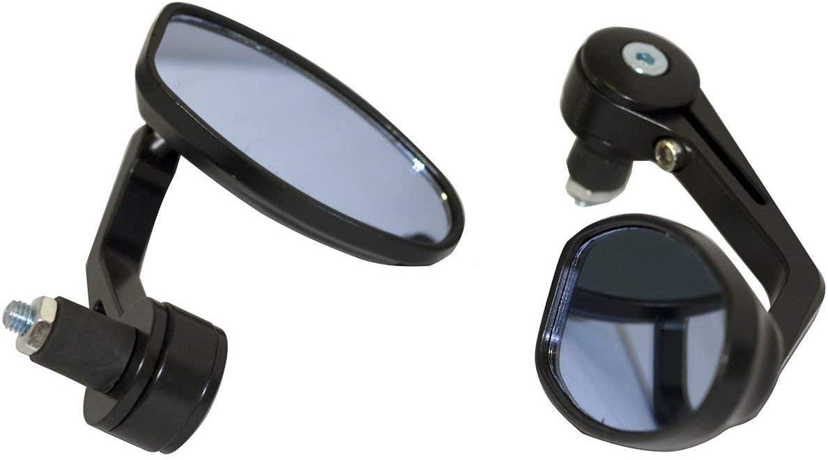 MotorToGo Black Reverse Retro Bar End View Mirrors for 2006 Suzuki Vstrom 650 DL650A ABS