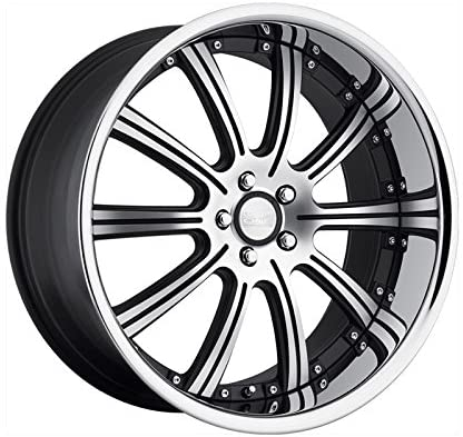 Concept One 748 RS-10 Matte Black Wheel with Machined Lip Finish (20x8.5