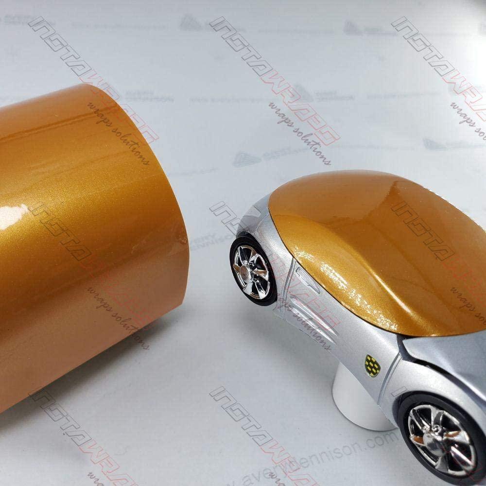 Avery SW900 Gloss Pearl Gold Orange   326-S   Vinyl CAR WRAP Film (Sample 2.5in x 4in)