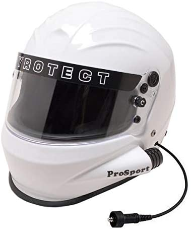 PCI Wired Pyrotect Prosport SFA Helmet With Air Pumper Connection, White Medium