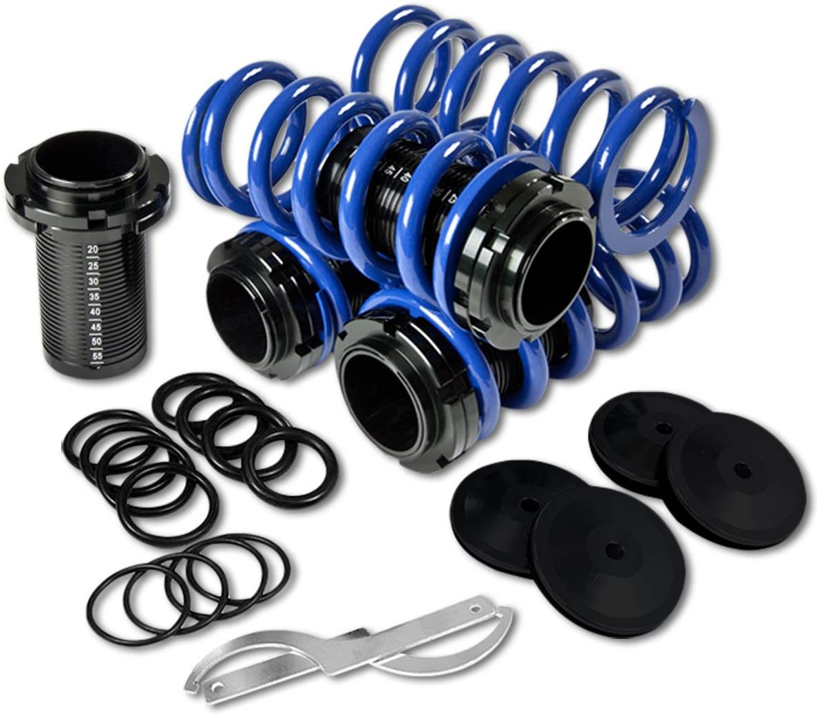 DNA Motoring COIL-HC88-T44-BL-A Coilover Sleeve Kit [For 88-01 Honda Civic Del Sol CRX Acura Integra]