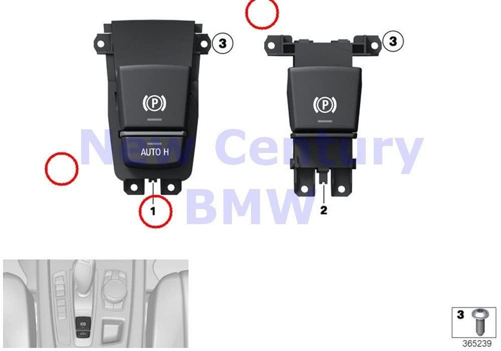 BMW Genuine Modules Switch Ecus Switch For Parking Brake/Auto-Hold 640i 640iX 650i 650iX ALPINA B6 640i 640iX 650i 650iX ALPINA B6 528i 528iX 535i 535iX 550i 550iX Hybrid 5 528i 528iX 535d 535dX 535i
