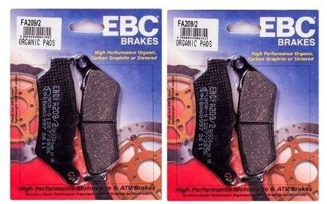 EBC Kevlar Organic Front Brake Pads (2 Sets) for Both Calipers 2007 Ducati Sport 1000 Monoposto / FA209/2