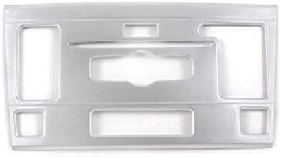 ABS Chrome Carbon Fiber Car Volume CD Mode Frame Trim For MercedesBenz GLK Class X204 2010 2011 2012 Accessories (Silver)