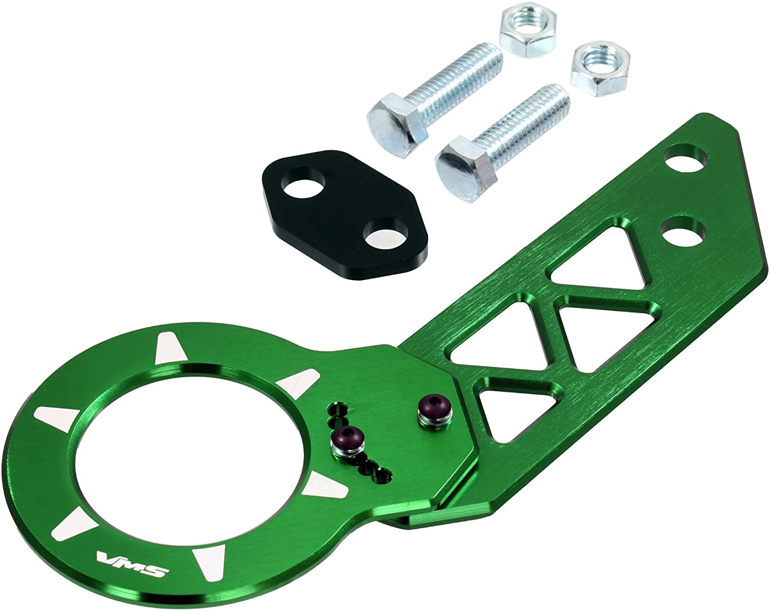 GREEN REAR ADJUSTABLE T6061 CNC Billet Anodized Aluminum Towing TOW HOOK for Honda Civic CRX CR-X Del Sol All Models (Brand New – Totally REDESIGNED) JDM