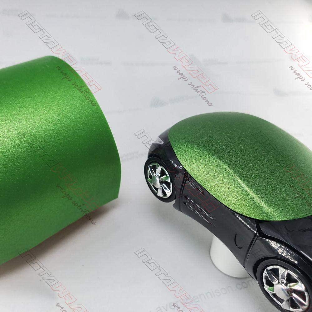 Avery SW900 Matte Green Apple Metallic | 745-M | Vinyl CAR WRAP Film (Sample 2.5in x 4in)