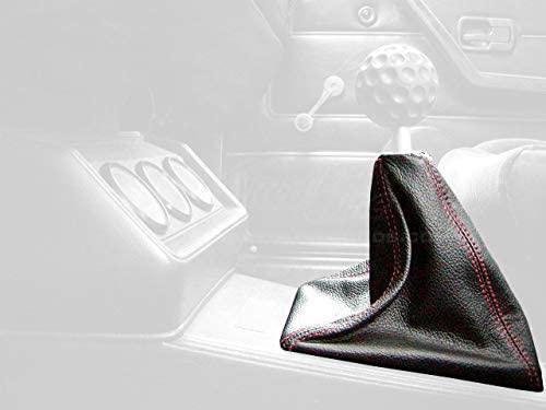 RedlineGoods bota/funda para palanca de cambios (GTI) Compatible with Volkswagen Scirocco 1974-84. Alcantara Negra Costura ROJA