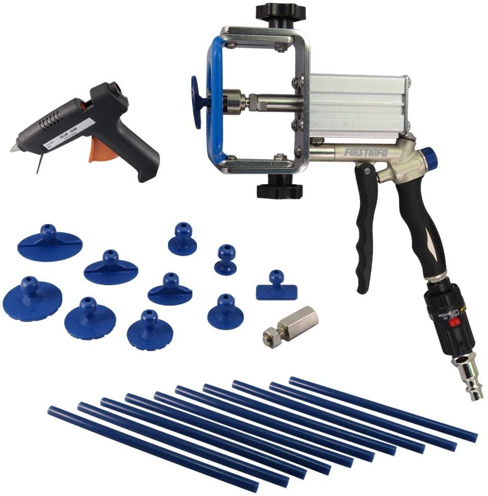 FIRSTINFOAir Small Hail Dent/Auto Body Damage Repair with 10 pcs Glue tabs Puller kit and Glue Sticks/Gun Kit
