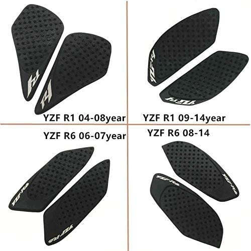 ASDZ Practical Motorbike Accessories for Yamaha YZF R1 YZF R6 2004-2014 Year Motorcycle Tank Pad Protector Sticker Decal Gas Knee Grip Tank Traction Pad Side YZF R1 04 08 Year, Name:YZF R1