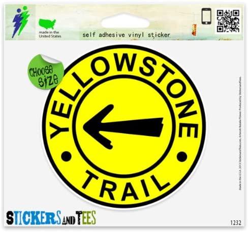 Yellowstone Trail Vinyl Car Bumper Window Sticker 4