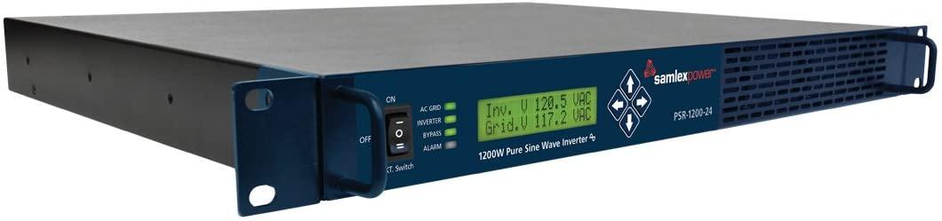 Samlex PSR-1200-24 1200 Watt DC-AC Power Inverter with Transfer Relay