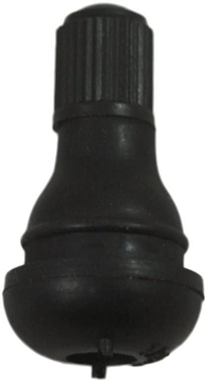 ABN Snap-in Short Black Rubber Valve Stem (TR412) 12pk for Tubeless 0.453in 11.5mm Rim Holes on Standard Vehicle Tires