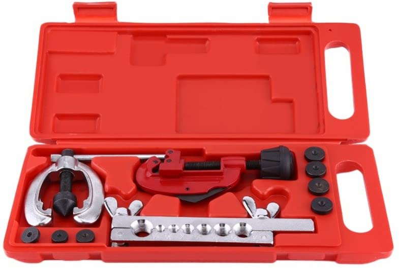 SHIJING 10 Tube Flaring Tool Flare Brake Pipe Repair clamp Mold Tool Horn Double Pipe Cutter to The Reservoir Tank