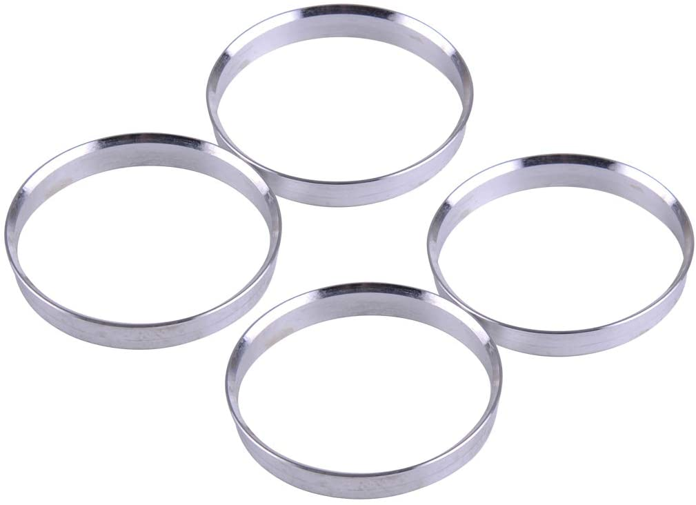 eastar 4Pcs Aluminum Alloy Wheel Spacer Hub Centric Rings 66.1mm OD to 64.1mm ID