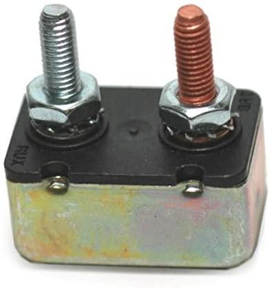 Automotive 25 Amp Automatic Reset Circuit Breaker Snaps Into K-FourS19-130 Mounting Bracket #10 Screw