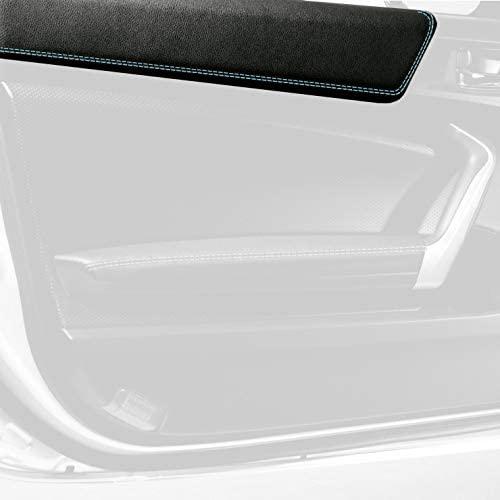 RedlineGoods Upper Door Trim Compatible with Scion FR-S 2012-16. Black Alcantara-Red Thread