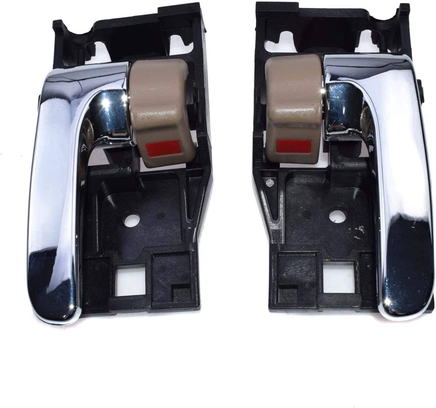 Inside Door Handles Pair Left + Right 2Pcs 69205AC010 NEW FOR Toyota Tundra Sequoia Avalon 2000-2007 69205-AC010 69206AC010