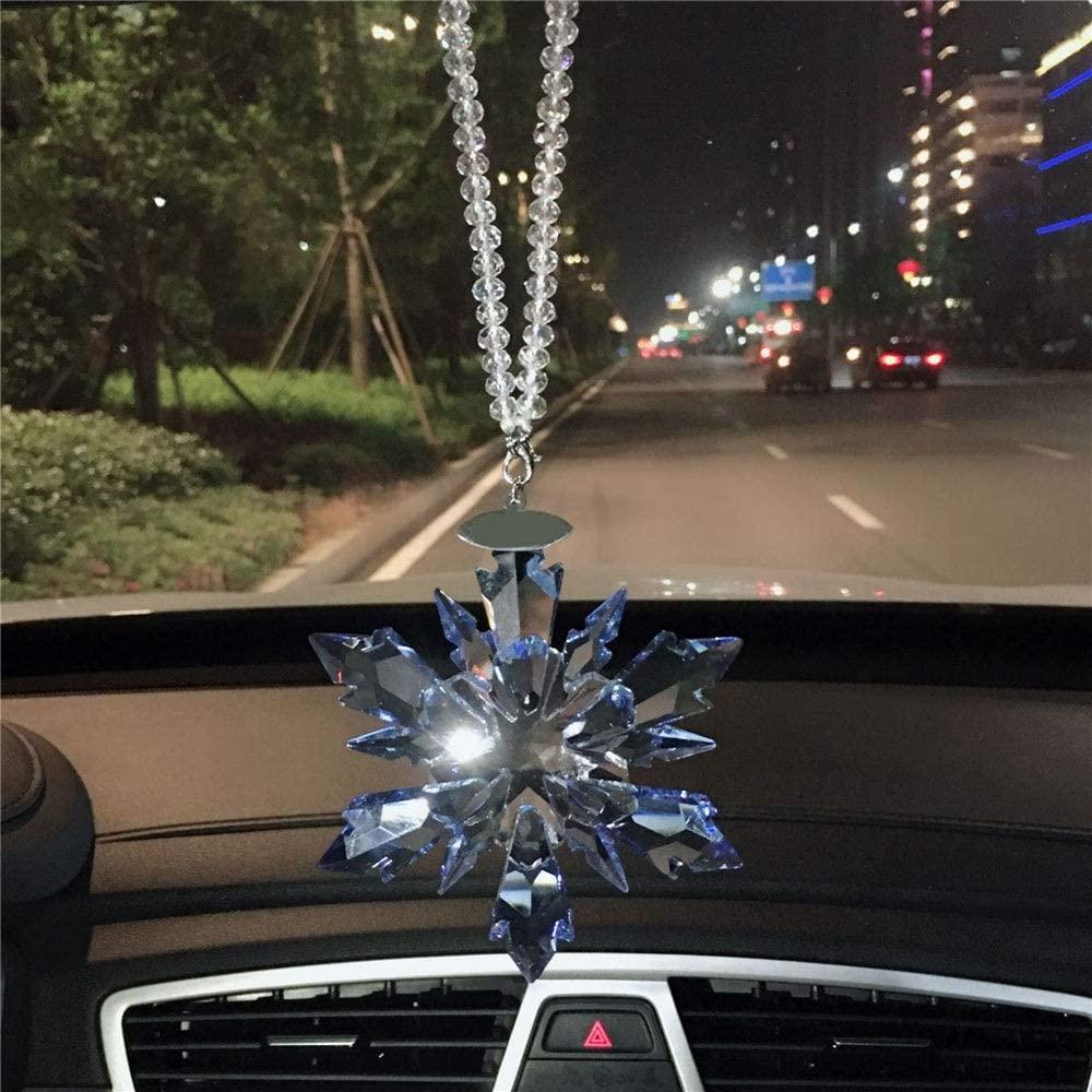 KoTag Auto Accessories Car Charm/Pendant Crystal Guardian Angel Suncatcher Car Charm for Rear View Mirror Auto Rearview Mirror Ornament Accessories (Color : Blue, Size : 10.7x10.1x1.8cm)