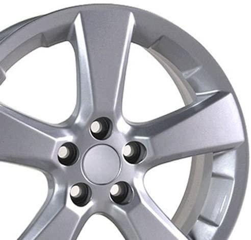 OE Wheels LLC 18 Inch Fits Lexus ES GS HS IS LS RX SC Toyota Avalon Camry Matrix Rav4 Sienna RX 330 Style LX03 Painted Silver 18x7 Rim Hollander 74171