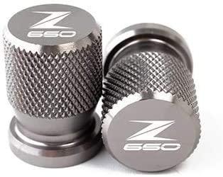 ASDZ Practical Motorbike Accessories for Kawasaki Z650 Z 650 2017 2018 2019 Motorcycle CNC Accessories Wheel Tire Valve Stem Caps Airtight Covers (Color : Titanium)