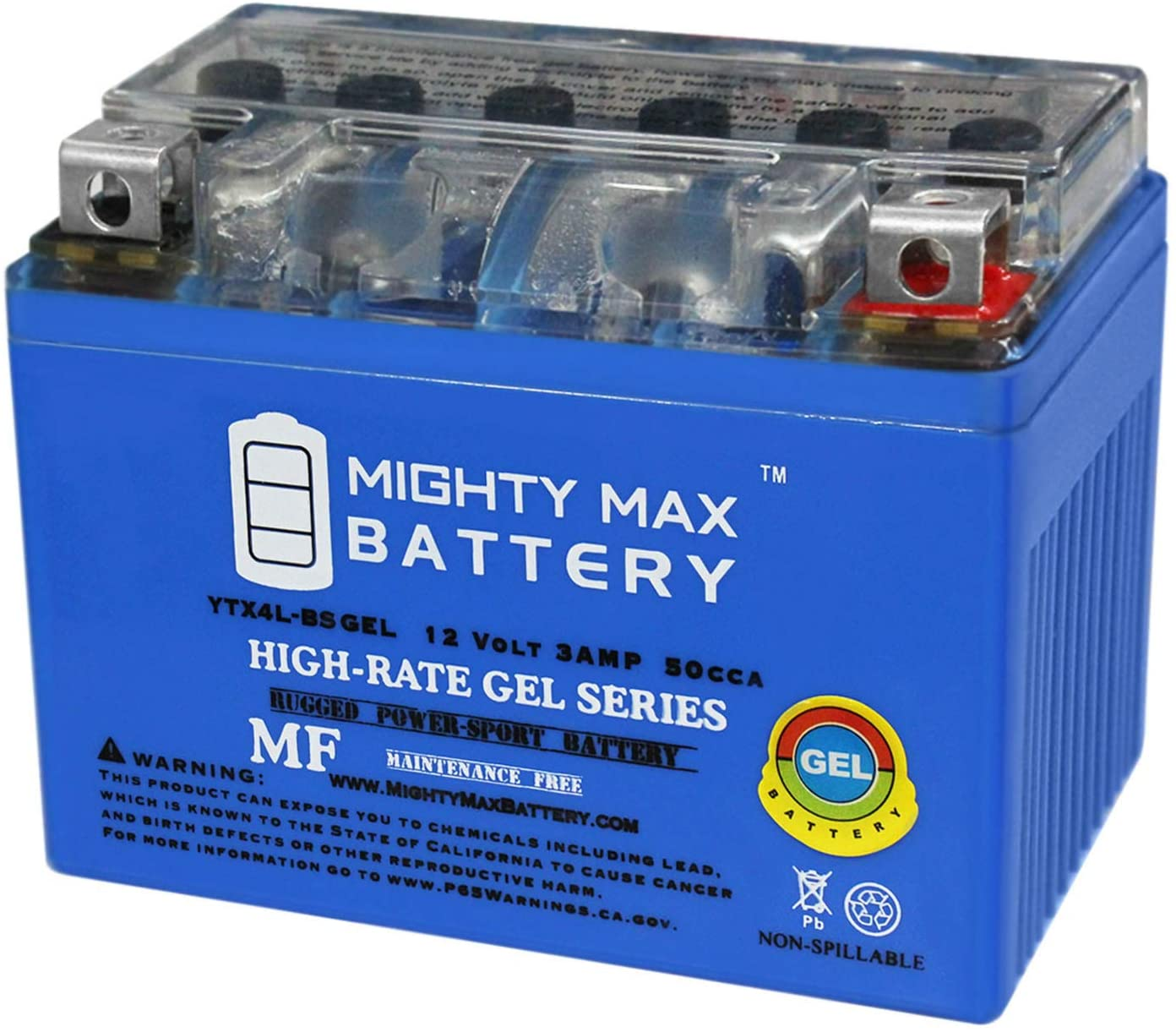Mighty Max Battery YTX4L-BS 12V 3Ah Gel Replacement for GT4L-BS GB4L-BS Go Kart Scooter Brand Product