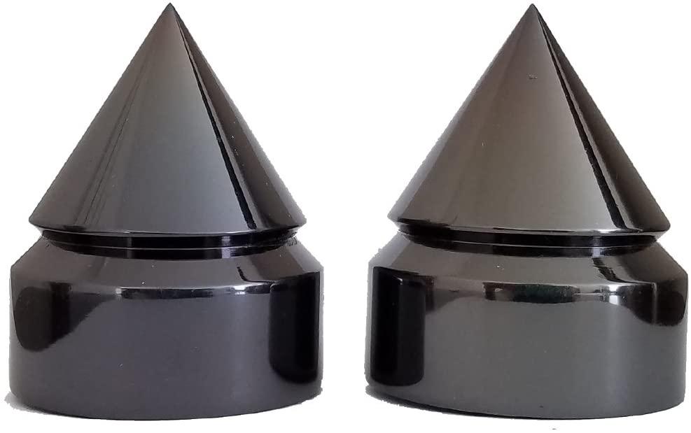 Sixty61 Rear Axle Caps for Suzuki GSXR 600, 750, 1000 Covers Black Chrome Billet Aluminum Spiked, GSXR600 GSXR750 GSXR1000