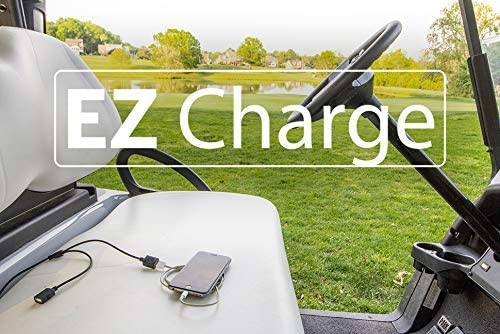 EZ Charge - Portable Dual USB Golf Cart Cell Phone Charger Universal Battery Quick Connect For ATV UTV Bass Boat Dirt Bike RV Motorcycle Tractor Survival Emergency 12v power outlet charge bank