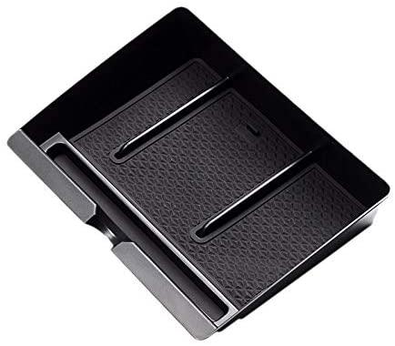 Semoic Car Central Handrail Storage Box Console Handrail Armrest Storage Glove Box Tray for F150 2015 2016-2020
