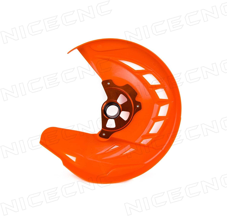 NICECNC Orange X-Brake Front Disc Rotor Guard Cover Replace KTM 125-530 SX/SX-F/XC/XC-F 2003-2014 EXC/EXC-F 2003-2015 TC/FC 125-450 2014 TE/FE 125-501 2014-2015
