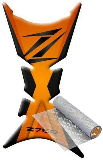 Tankpad for Kawasaki Z 750 2007-2012 (Black/Orange)
