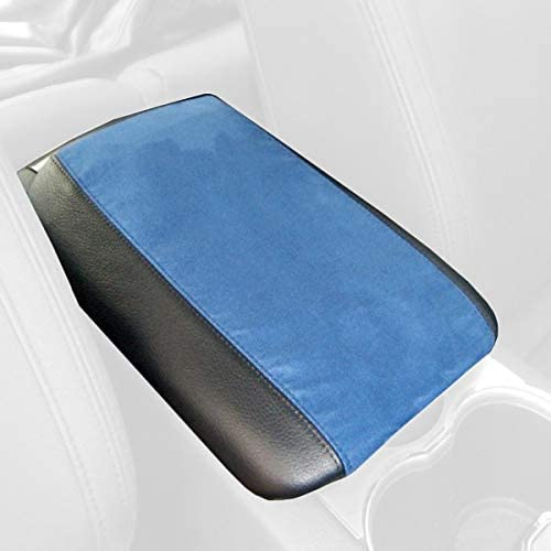 RedlineGoods Front armrest Cover Compatible with Vauxhall VXR8 2007-09 Black Alcantara-Red Thread