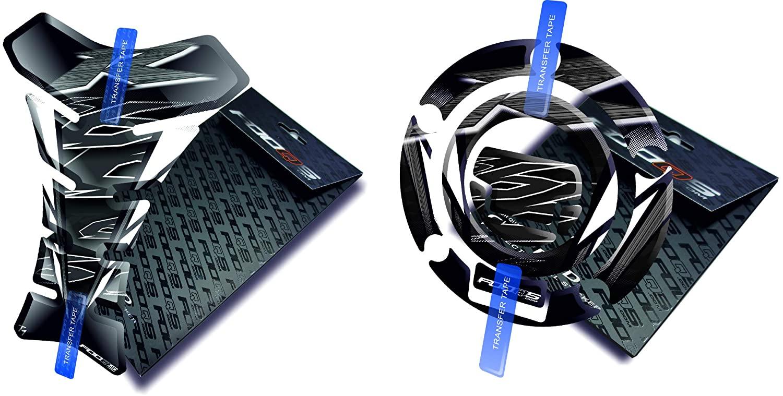 Fooqs Tankpad and Cappad for Yamaha YZF R6 YzfR6 (Black)