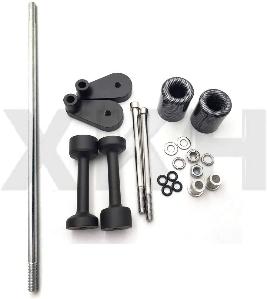 XKH - Replacement of Motorcycle Carbon No Cut Frame Slider For 2008 2009 2010 2011 2012 Kawasaki Ninja 250 250R Ex250 N new