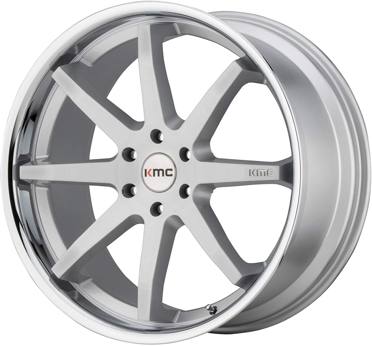 Deal on Wheels KMC Reverb Brushed Silver W/Chrome Lip Reverb 22x9.5 6x135.00 Brushed Silver W/Chrome Lip (30 mm) Wheel