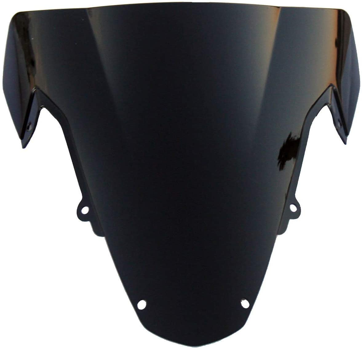 MotorToGo Black Tinted Smoke Windscreen Windshield for 2004 Suzuki GSXR1000
