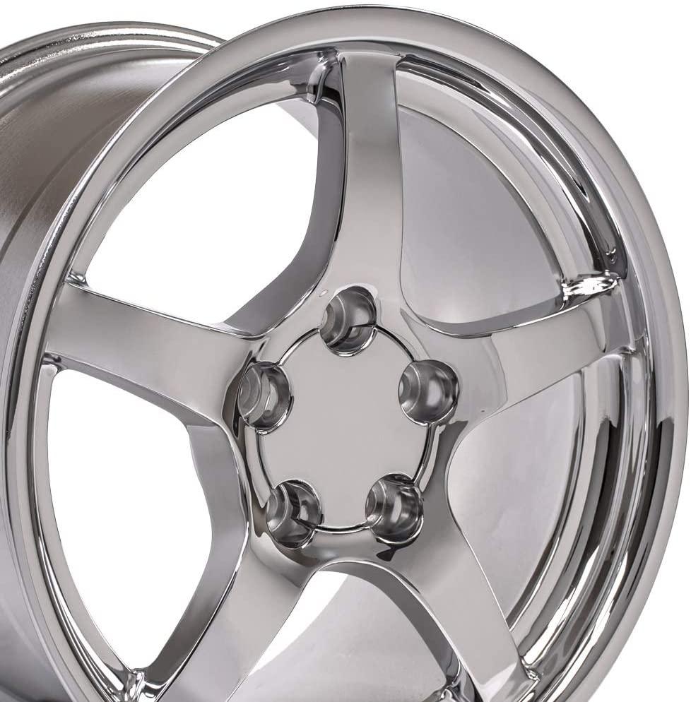 OE Wheels LLC 18 Inch Fits Chevy Camaro Corvette Pontiac Firebird C5 Deep Dish Style CV05 Chrome 18x9.5 Rim Hollander 5122