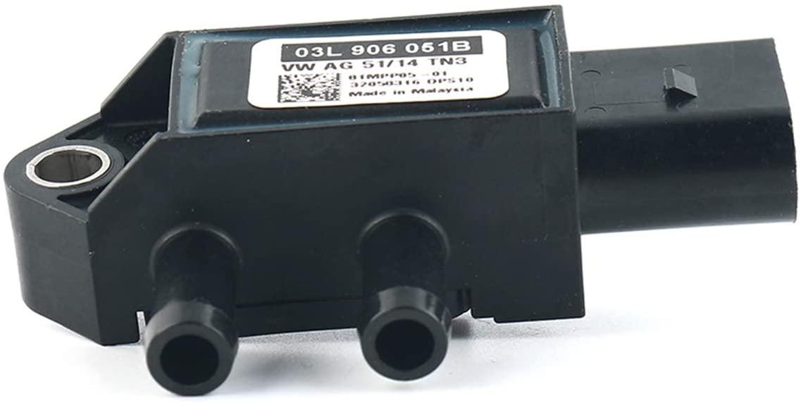GJ 03L906051B Air Pressure Sensor Pressure Valve DPF Sensor Compatible with VW Skoda Audi A3 A4 A5 A6 Q3 Q5 Golf 03L906051B