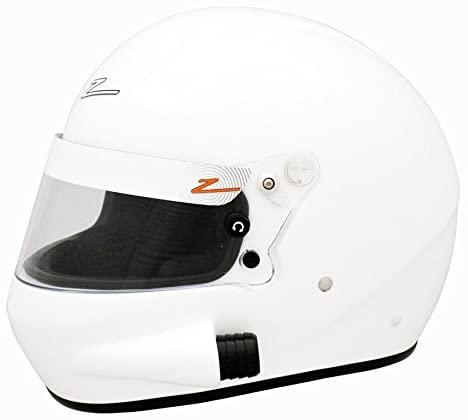 Zamp RZ-58 Side Air Intake Snell SA2015 Helmet White Medium
