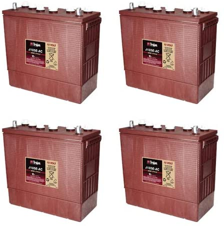Trojan J185E-AC 12 Volt, 175 AH Deep Cycle Battery - 4 Pack