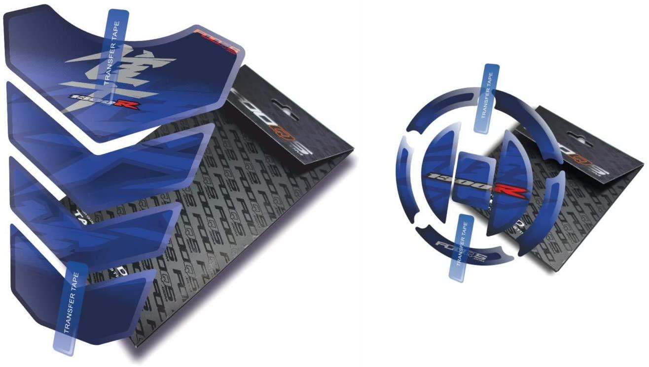 Fooqs Tankpad and Cappad for Suzuki GSX 1300 R Hayabusa (Blue)