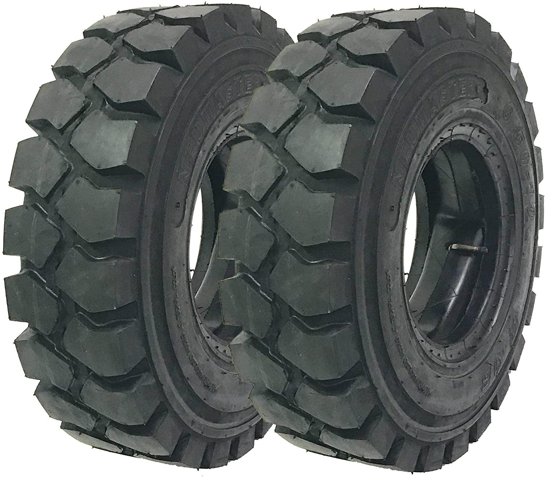 Set of 2 New ZEEMAX HD 6.00-9 /10TT Forklift Tires w/Tube & Flap & Rim Guard