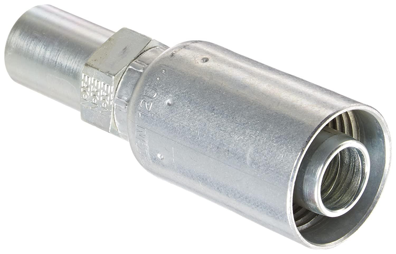 EATON Weatherhead Coll-O-Crimp 12U-52T Standpipe Straight Tube Fitting, Metric Thread, Low Carbon Steel, 3/4