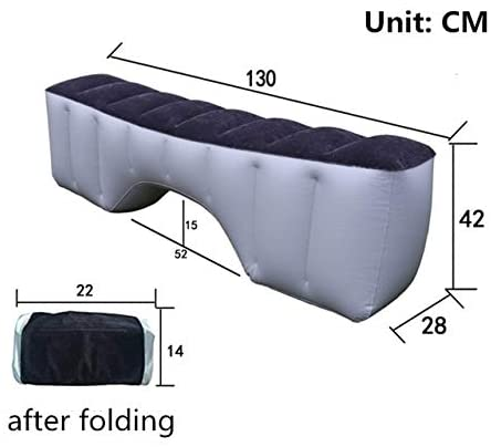 2020Car Inflatable Bed SUV Rear Pad Child Self-Driving Tour Equipment Air Bed Universal Car Rear Seat Camping Mattress Grey