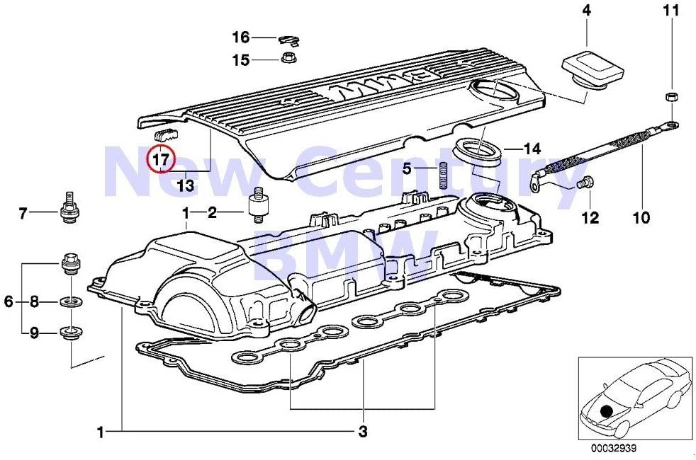 BMW Genuine Cylinder Head Cover Distance Rubber 525i 320i 323i 325i 325is 328i M3 M3 3.2 525i 528i 530i 320i 323Ci 323i 325Ci 325i 325xi 328Ci 328i 330Ci 330i 330xi X5 3.0i 525i 530i X3 2.5i X3 3.0i Z