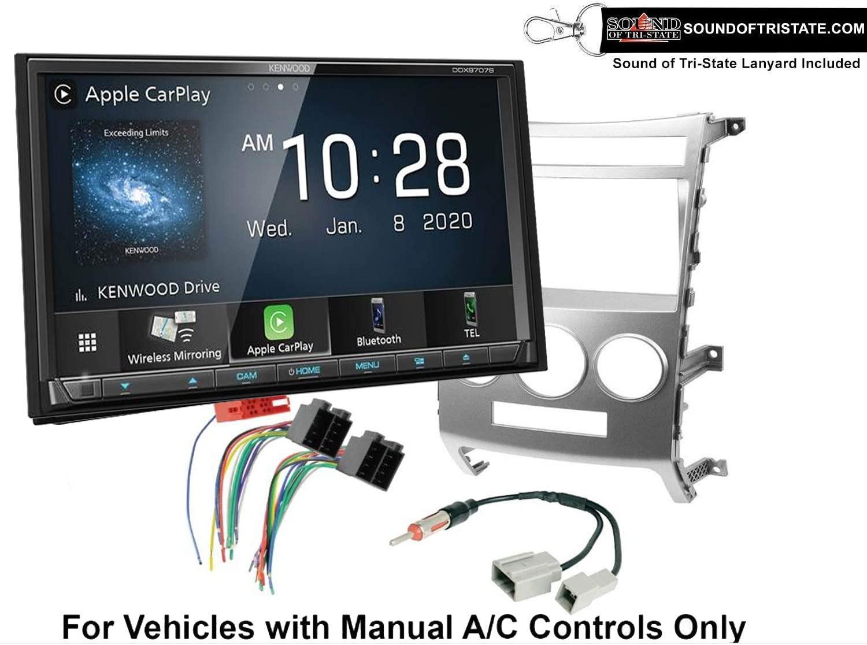 Kenwood DDX9707S DVD Receiver + Install kit 2006-2012 Toyota RAV4 with Amplified System + Sound of Tri-State Lanyard Bundle