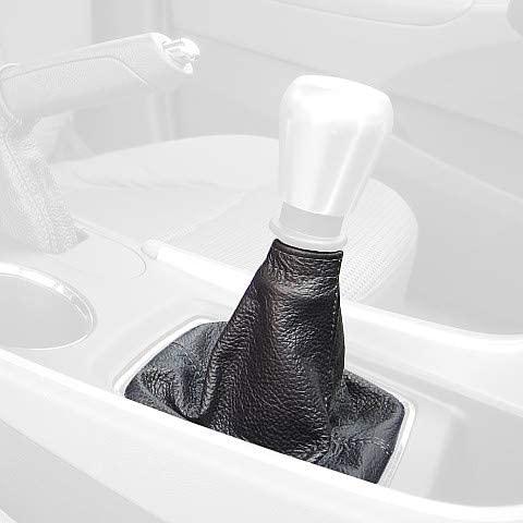 RedlineGoods Shift Boot (GLS 6spd) Compatible with Hyundai Sonata 2011-14. Black Alcantara-Blue Thread